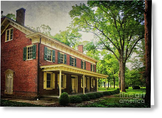The John Stover House Greeting Card by Debra Fedchin