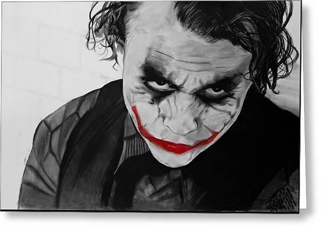 The Joker Greeting Card by Robert Bateman