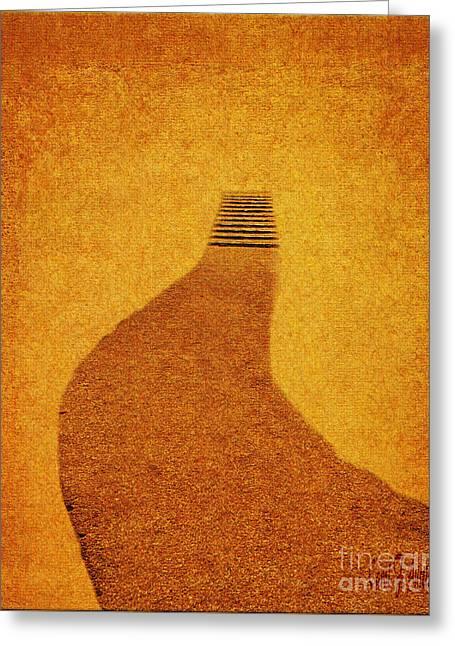 The Journey Pathway Minimalism Greeting Card
