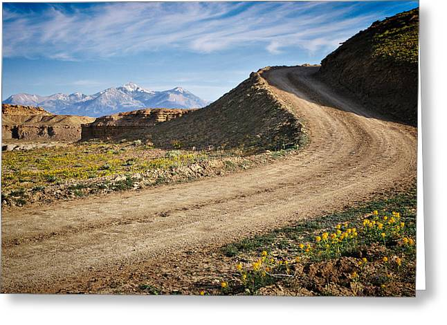 The Journey - Utah Greeting Card by Gregory Ballos