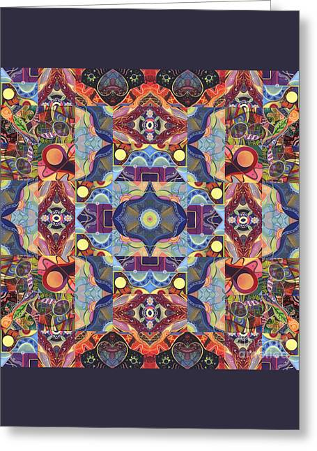 The Joy Of Design Mandala Series Puzzle 1 Arrangement 1 Greeting Card