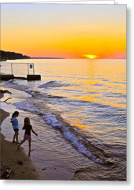 The Joy Of Youth Greeting Card by Frozen in Time Fine Art Photography