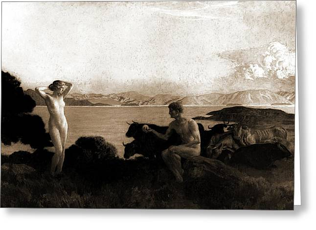 The Judgment Of Paris, Menard, Emile Renard Greeting Card by Litz Collection