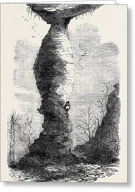 The Jug Rock In Southern Indiana 1869 Greeting Card