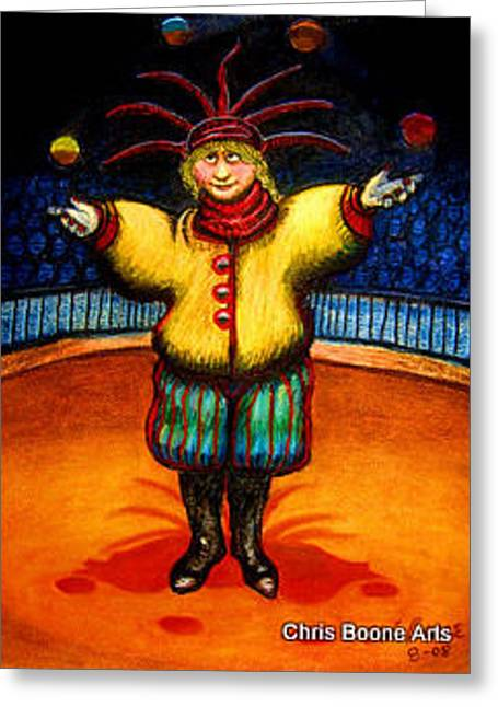 The Juggler Greeting Card by Chris Boone