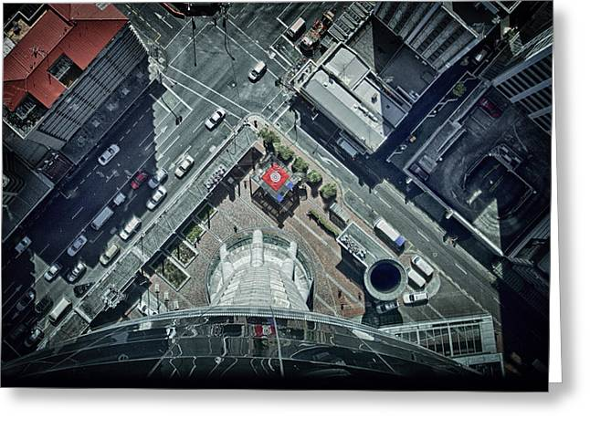 Greeting Card featuring the photograph The Jump by Kim Andelkovic
