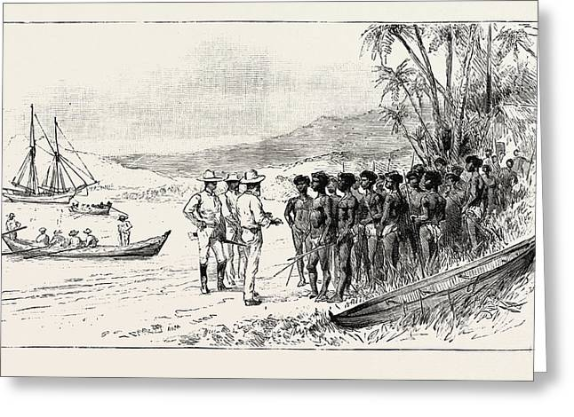 The Kanaka Labour Question In Queensland Recruiting Traders Greeting Card by Australian School