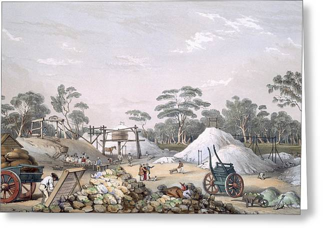 The Kapunda Copper Mine, From South Greeting Card by George French Angas