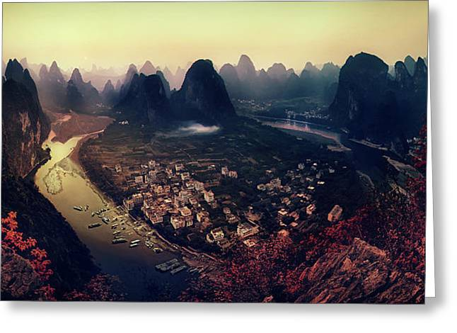 The Karst Mountains Of Guangxi Greeting Card by Clemens Geiger
