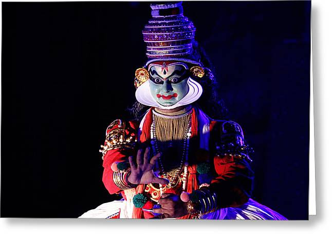 The Kathakali Dance Greeting Card