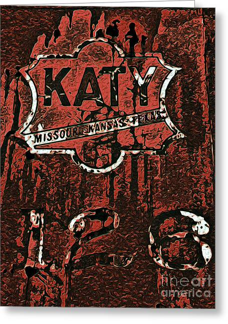The K A T Y Railroad Sign Greeting Card by R McLellan