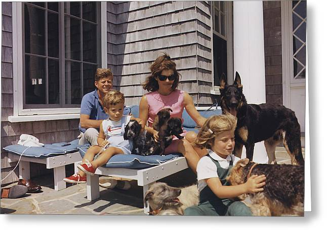 The Kennedy Family With Dogs Greeting Card by Stocktrek Images