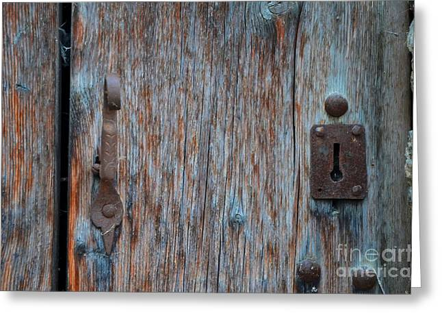 The Key Hole Greeting Card by Michelle Meenawong