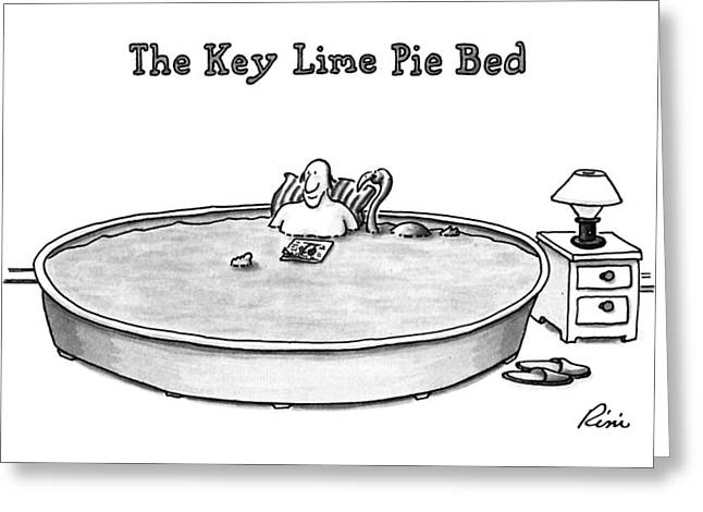 The Key Lime Pie Bed Greeting Card by J.P. Rin