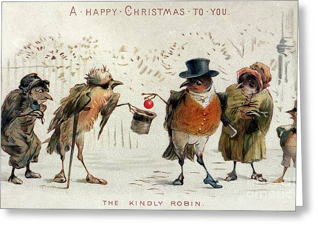 The Kindly Robin Greeting Card by Castell Brothers