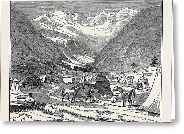 The King Of Italys Hunting Quarters In The Aosta Valley Greeting Card by Italian School