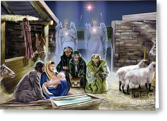 The King Of Kings Is Born Greeting Card by Reggie Duffie