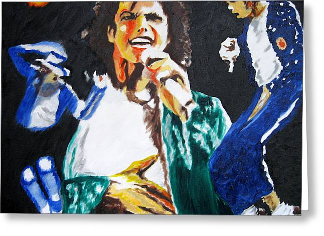 The King Of Pop Michael Jackson Greeting Card by Ronald Young