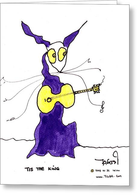 The King Of Rock 'n Roll Greeting Card by Tis Art