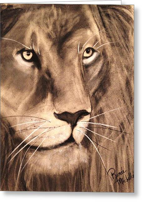 The King Greeting Card by Renee Michelle Wenker