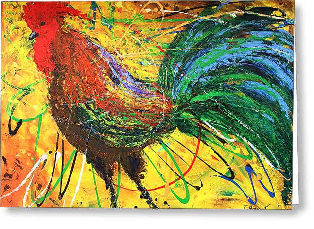The King Rooster Greeting Card