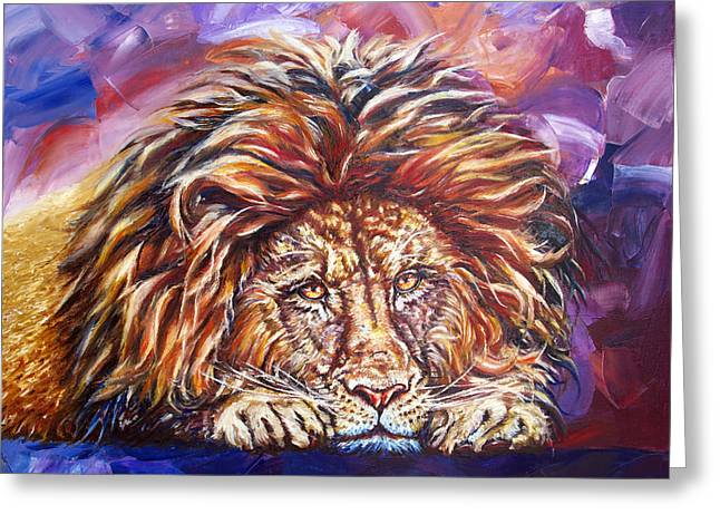 The King Greeting Card by Yelena Rubin