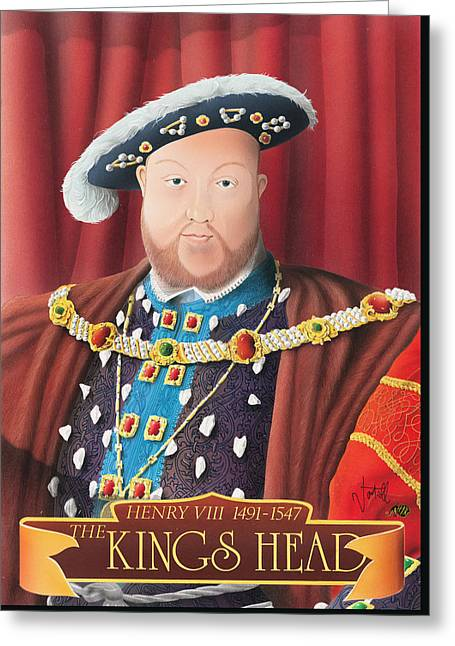 The Kings Head Greeting Card by Peter Green