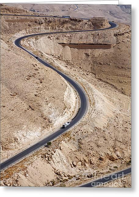 The King's Highway At Wadi Mujib Jordan Greeting Card