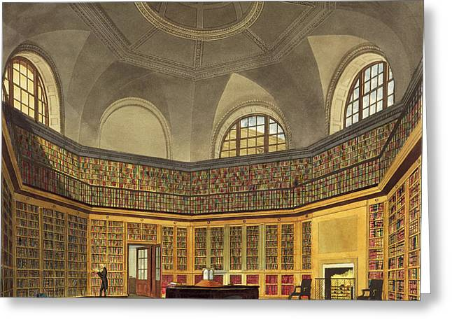 The Kings Library Greeting Card by James Stephanoff