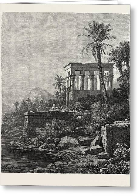 The Kiosk On The Island Of Philae Greeting Card by Litz Collection