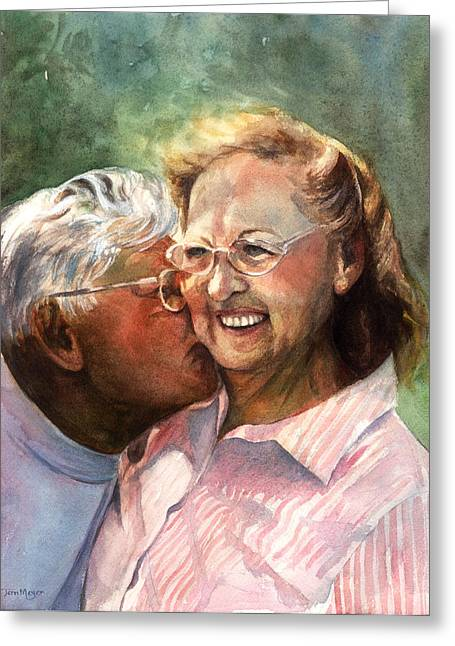 The Kiss Greeting Card by Terri  Meyer