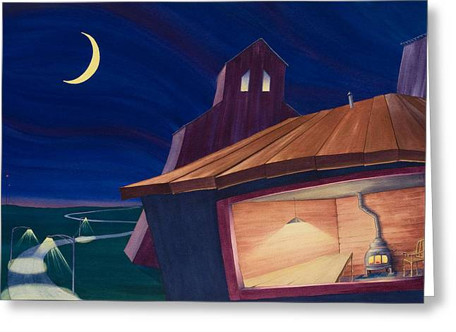 Greeting Card featuring the painting The Kitchen II by Scott Kirby