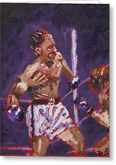 The Knockout Greeting Card by Preston Sandlin