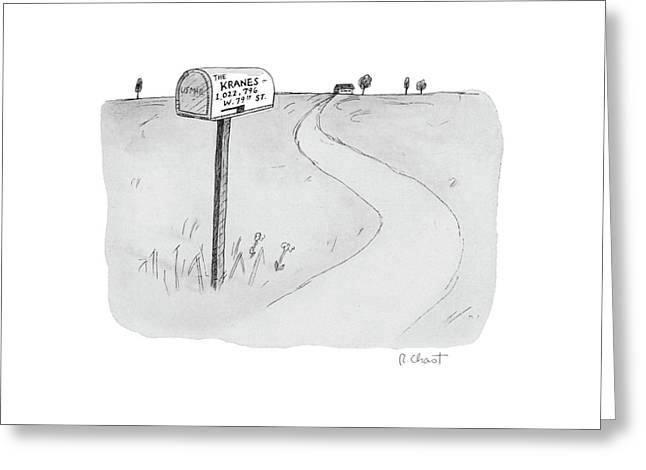 'the Kranes 1 Greeting Card by Roz Chast