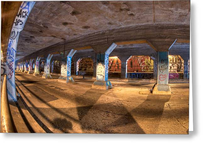 The Krog Street Tunnel Greeting Card by Mark E Tisdale