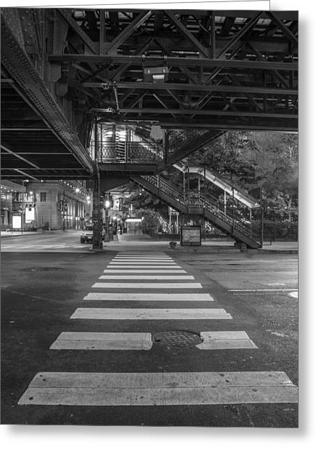 The L And Crosswalk Greeting Card