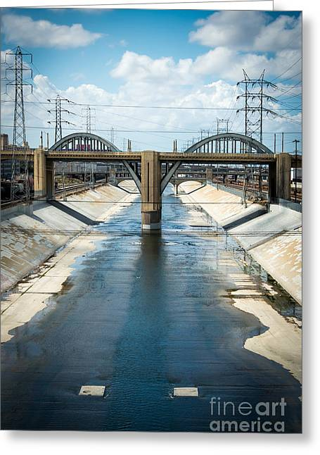 The La River Greeting Card