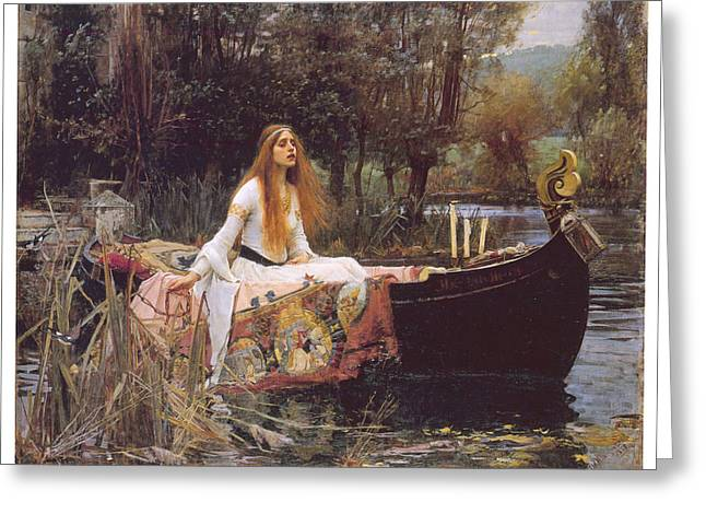 The Lady Of Shallot Greeting Card by John William Waterhouse