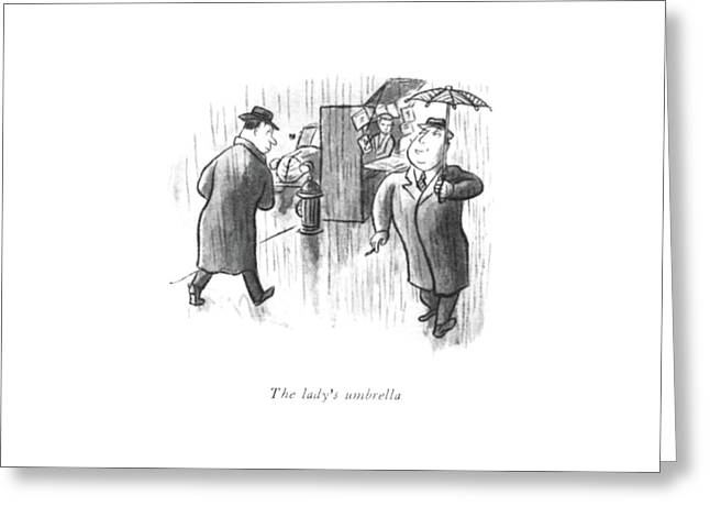 The Lady's Umbrella Greeting Card