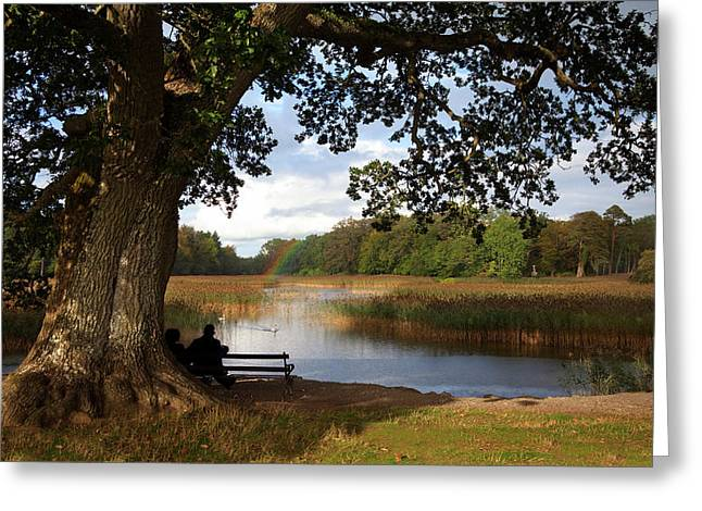 The Lake At Emo Court, Emo Village Greeting Card by Panoramic Images