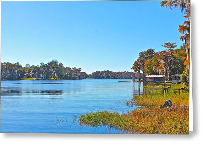 Greeting Card featuring the photograph The Lake by Cyril Maza