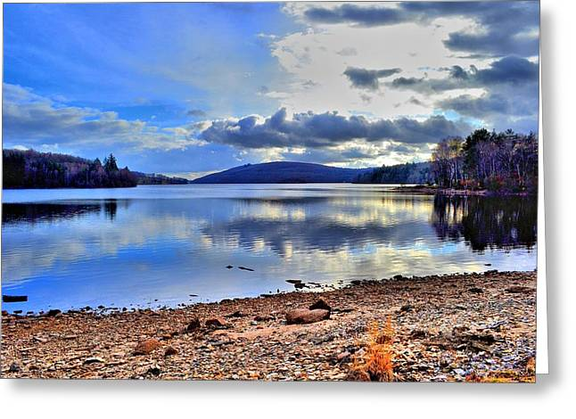 The Lake Greeting Card by Dave Woodbridge