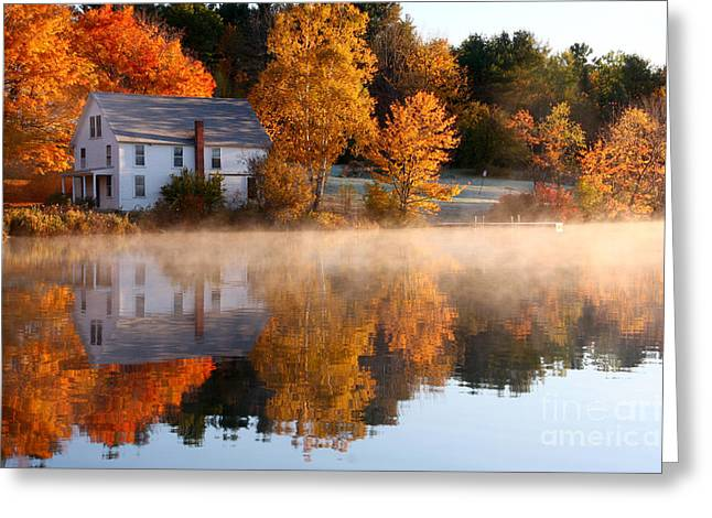 The Lake House Greeting Card by Butch Lombardi