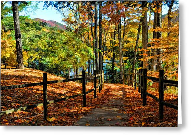 The Lake Path Greeting Card by Kenny Francis