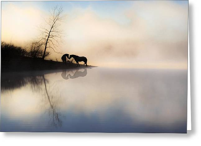 The Lake Shore Greeting Card by Ron  McGinnis