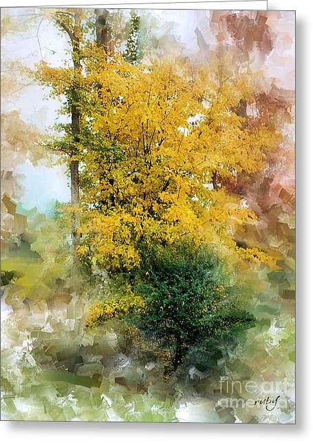 The Lake Trees Greeting Card