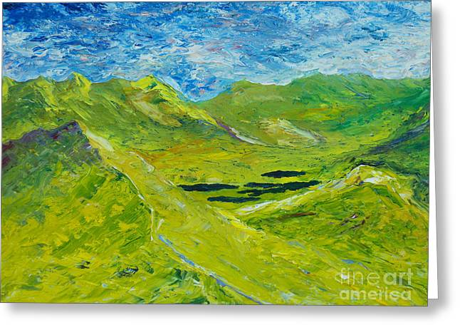 Greeting Card featuring the painting The Lakes Of Killarney  Original Sold by Conor Murphy
