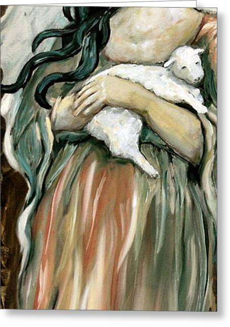 The Lamb Greeting Card by Carrie Joy Byrnes