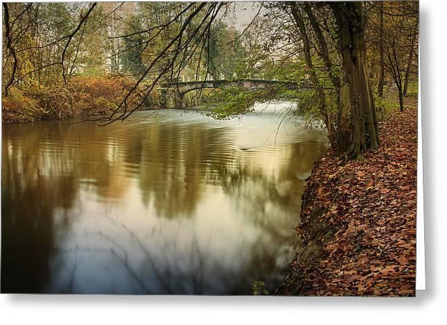 The Lambro River Greeting Card by Alfio Finocchiaro