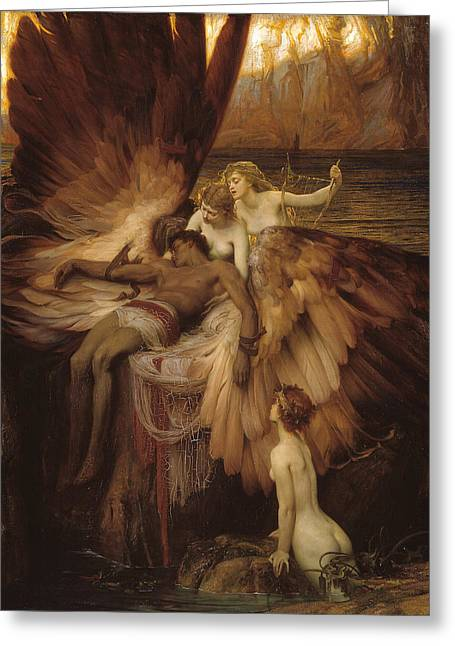 The Lament For Icarus Greeting Card